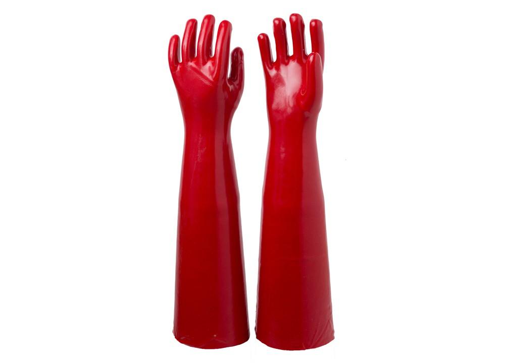 长款红耐油手套