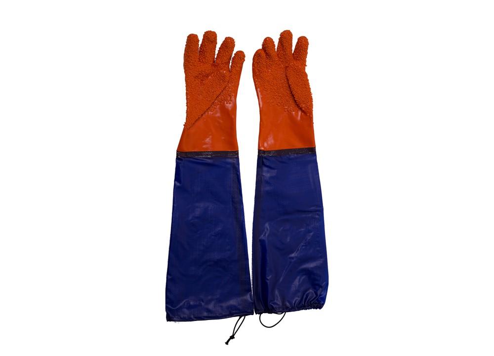 牛筋布接袖止滑手套