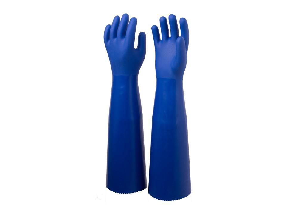 长款蓝耐油手套