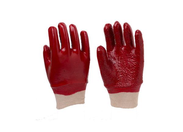 红色毛巾布内衬手套
