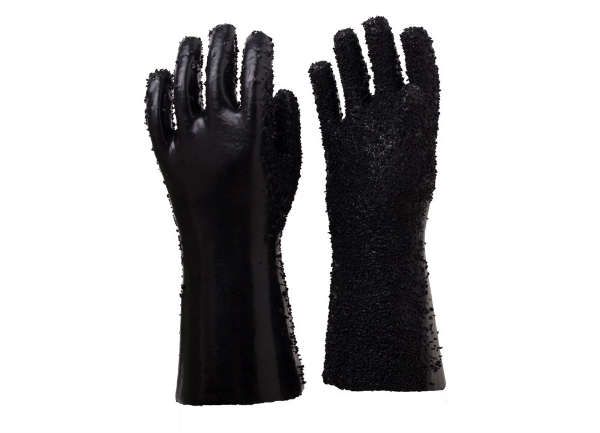 黑颗粒耐油手套