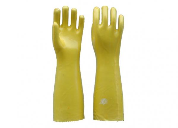 45公分黄浸塑手套