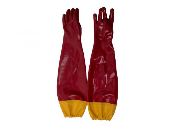 红色接袖手套
