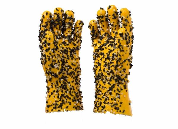 双色颗粒手套