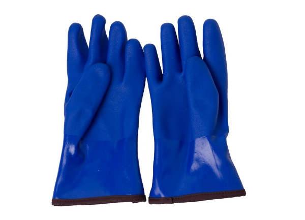蓝色开司米防寒手套